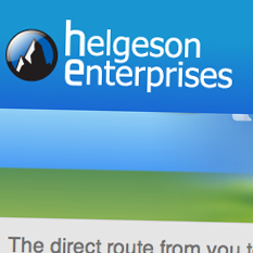 Helgeson Enterprises Corporate Site Redesign