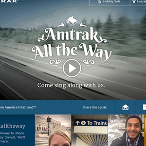 Amtrak Christmas  Microsite