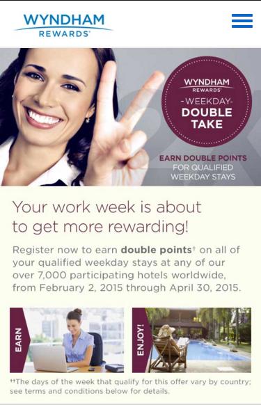 Wyndham Responsive Promo mobile
